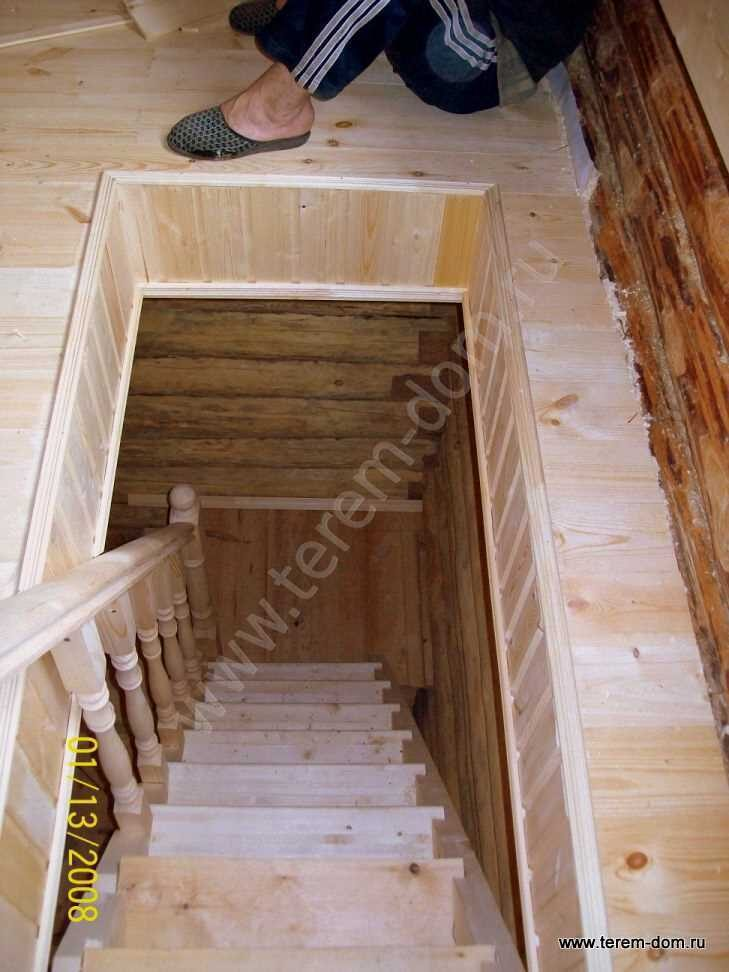 монтаж лестницы на мансарду 1.4.