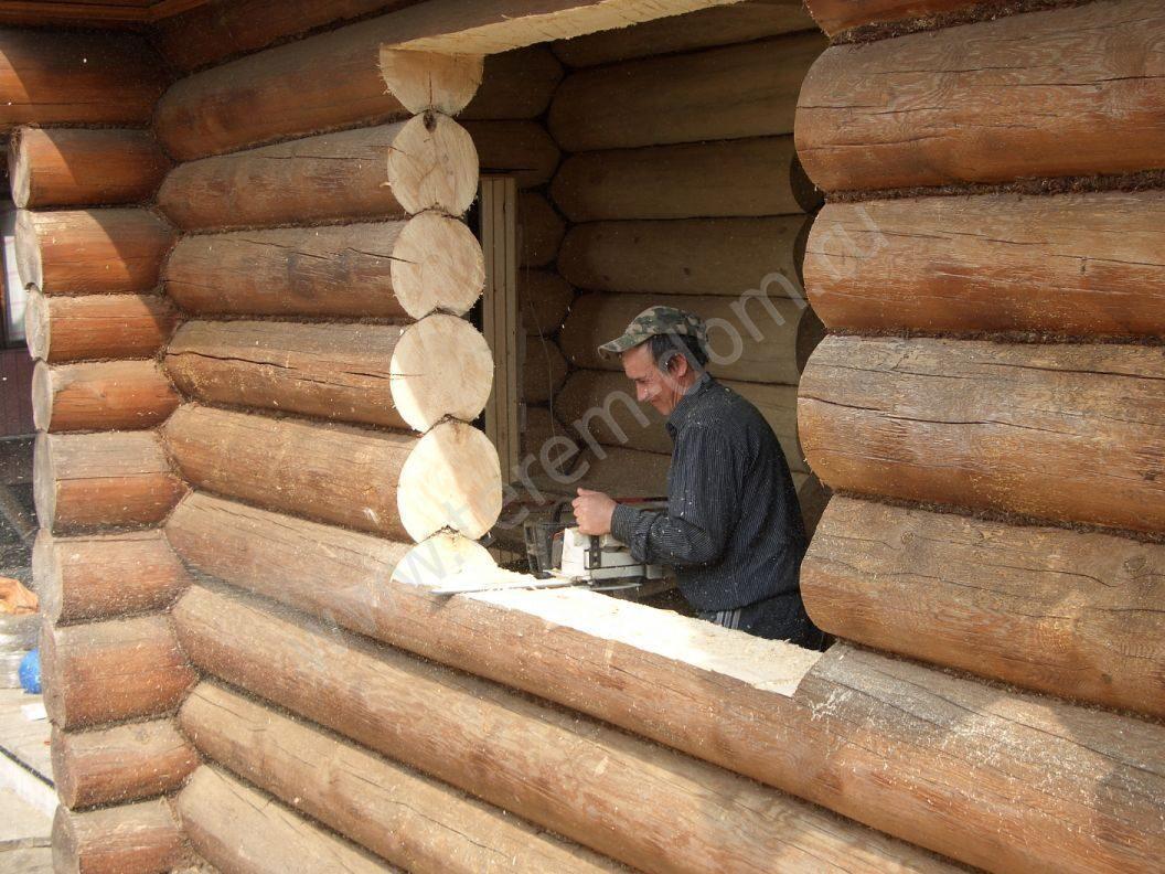Правильная установка окон и дверей в деревянном доме 5