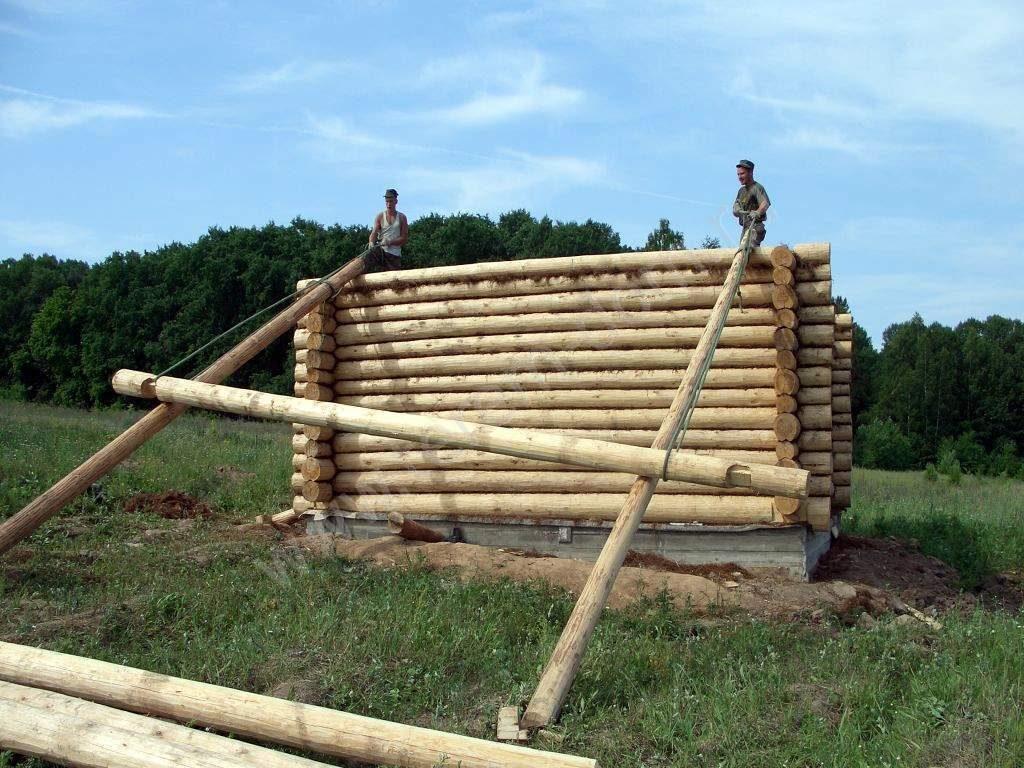 Поднимаем деревянный дом 53