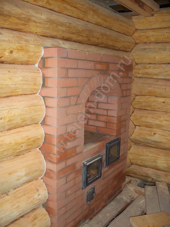 Как сделать камин фото для бревенчатого дома