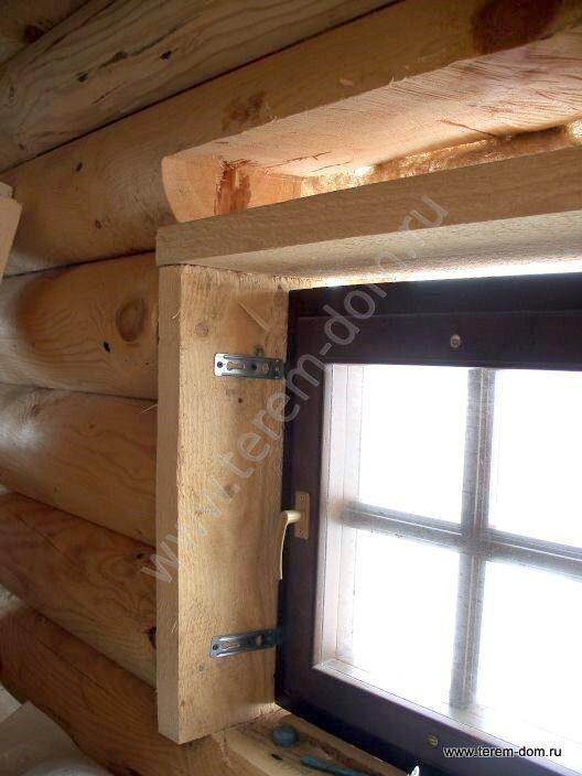 Установка своими руками пластикового окна в сруб 421