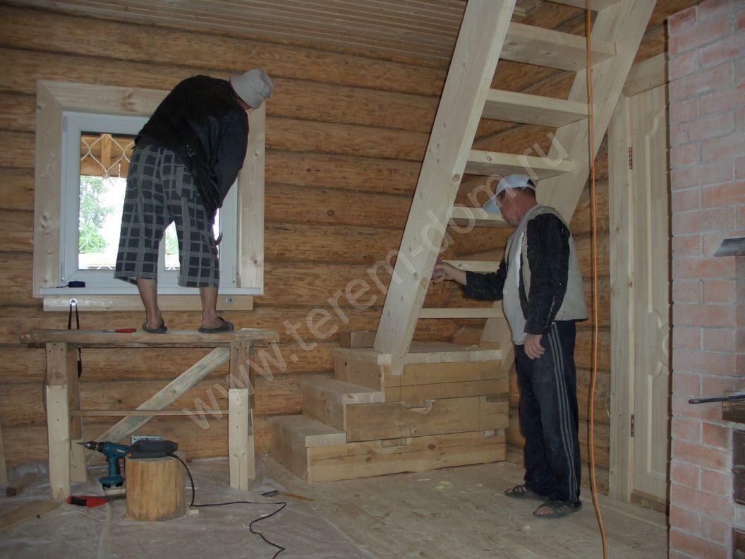 монтаж лестницы на мансарду 1.31.