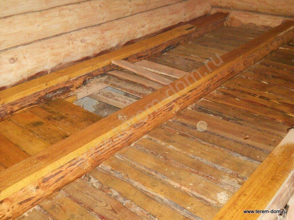 Как сделать основу для пола в деревянном доме