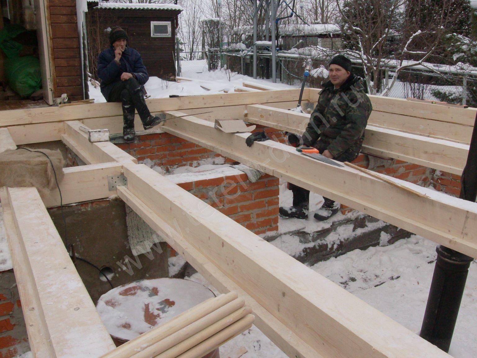 Как построить пристройку к дому из бруса своими руками