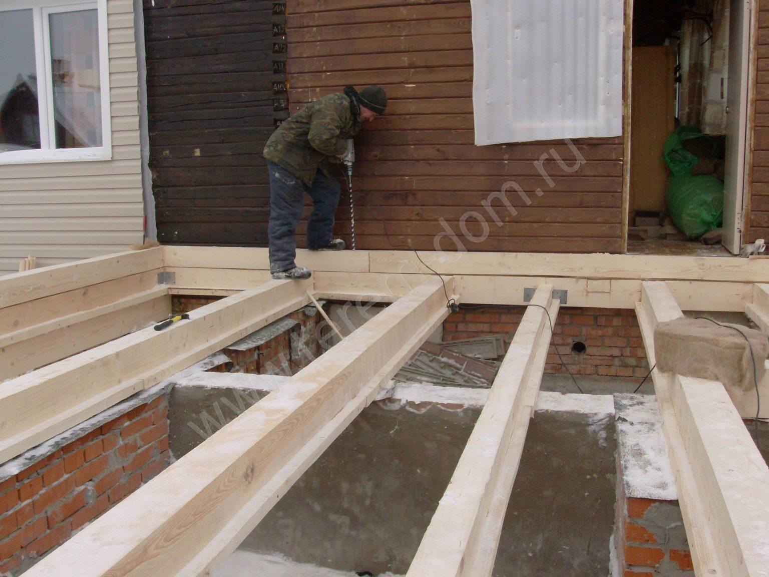 Строительство пристройки к дому своими руками фото