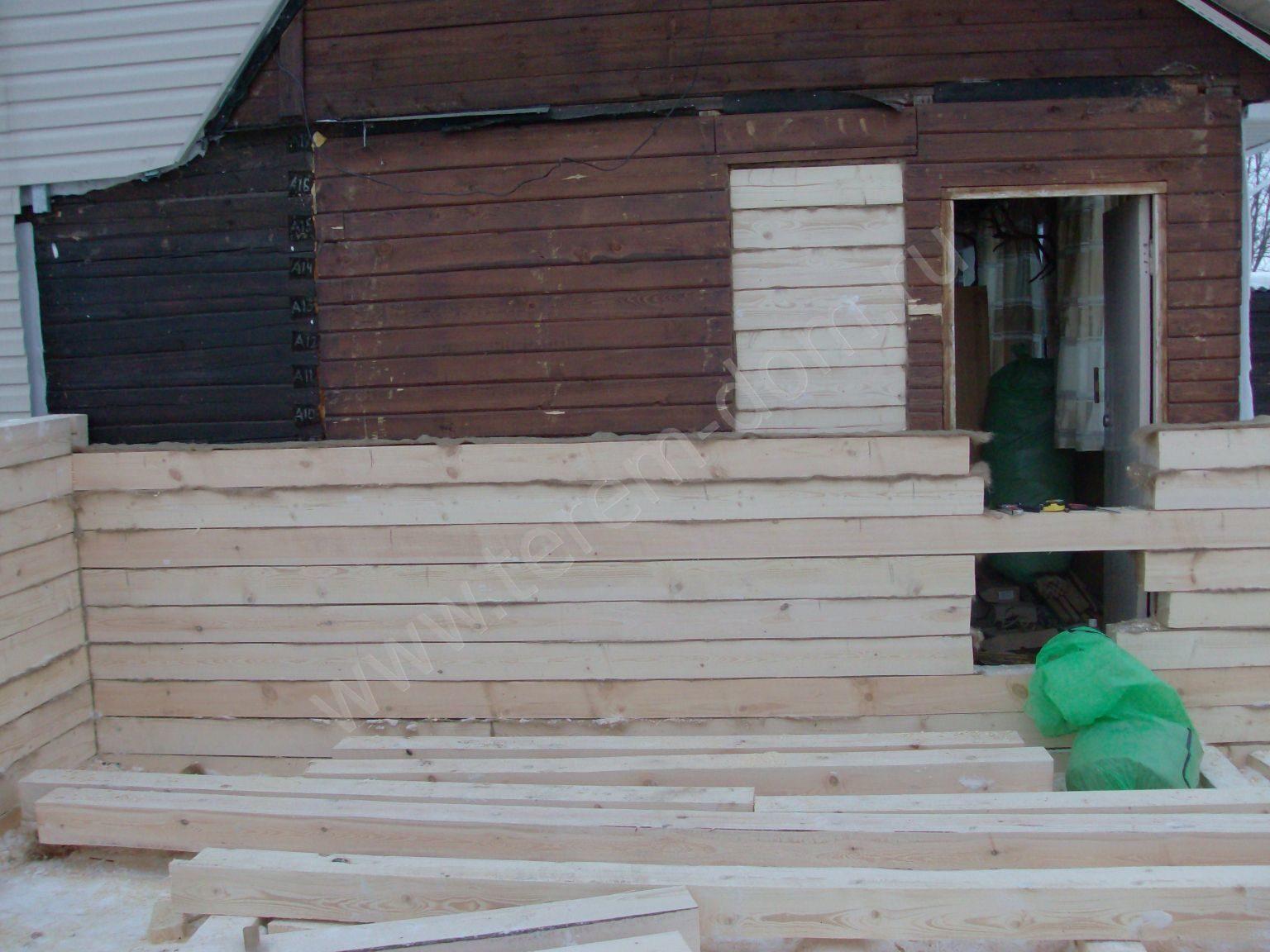 Как пристроить комнаты к дому из бруса своими руками 107